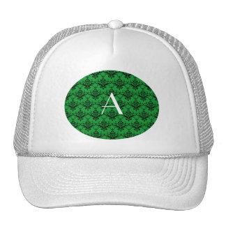 Monogram Green damask Trucker Hat