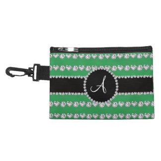 Monogram green diamond hearts stripes accessories bags