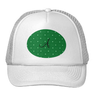 Monogram green diamonds and bows trucker hats