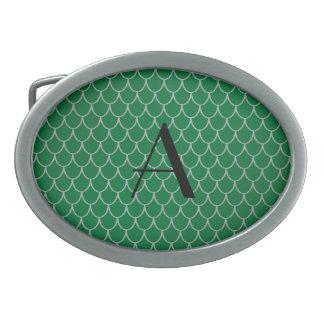 Monogram green dragon scales belt buckles