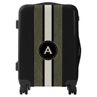 Monogram Green Faux Leather Luggage Gift