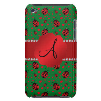 Monogram green ladybugs hearts dots Case-Mate iPod touch case