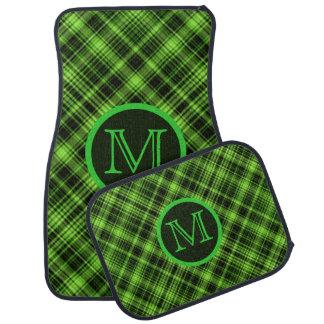 Monogram Green Plaid Floor Mats Car Mat