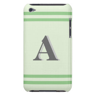 Monogram Green Striped iPod Touch Case