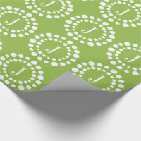 Monogram Green Wrapping Paper