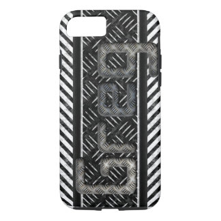 "Monogram ""Greg"" Metal Texture iPhone 7 Case"