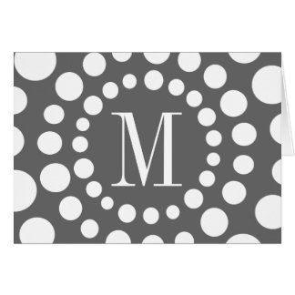 Monogram Grey Card
