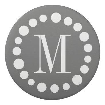 Professional Business Monogram Grey Eraser