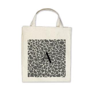 Monogram grey giraffe print bags