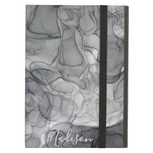 Monogram grey marbling dreams case for iPad air