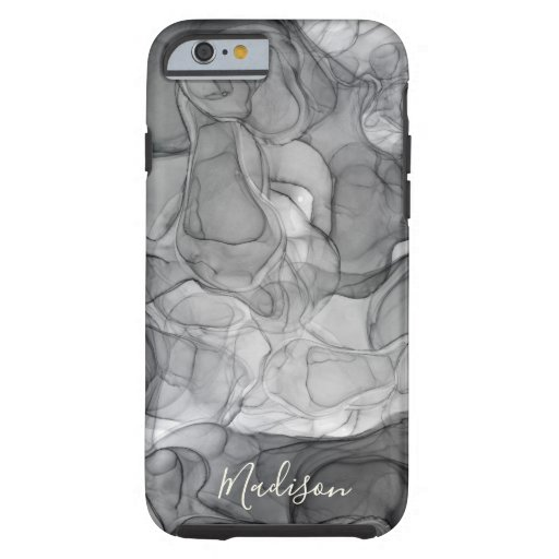 Monogram grey marbling dreams tough iPhone 6 case