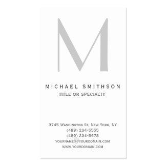 Monogram Grey Modern Simple Business Card