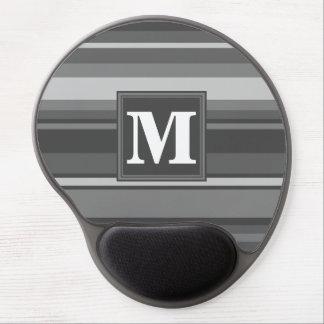 Monogram grey stripes gel mouse pad