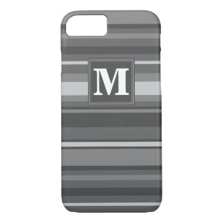 Monogram grey stripes iPhone 8/7 case