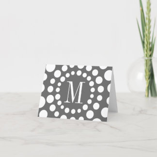 Monogram Grey Template Initial