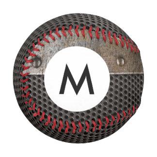 Monogram Grunge metal background Baseball