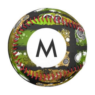 Monogram Grunge Style Music Banner Baseball