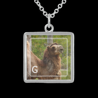 Monogram Guess What Day Camel Funny Personalized Sterling Silver Necklace