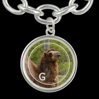 Monogram Guess What Day Camel Personalized Charm Bracelet
