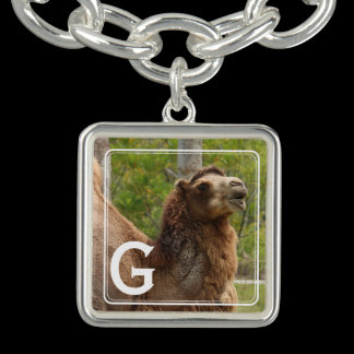 Monogram Guess What Day Camel Personalized Charm Bracelets