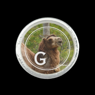 Monogram Guess What Day Camel Personalized Photo Rings