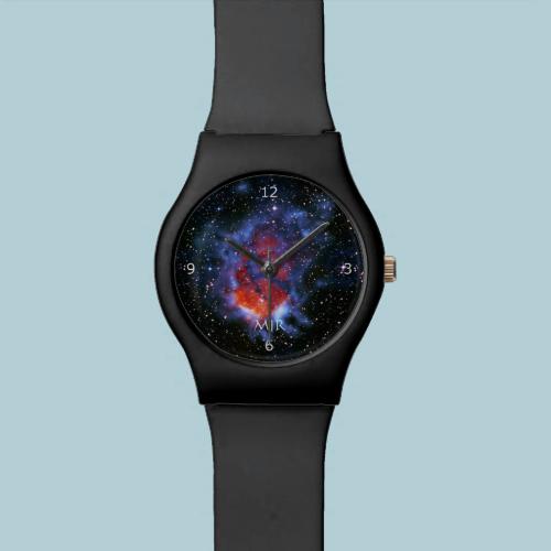 Monogram, Gum 58 Emission Nebula, outer space imag Watches