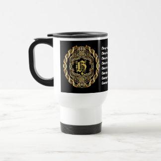 Monogram H CUSTOMIZE To Change Background Color Travel Mug