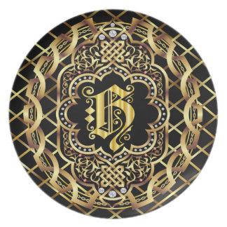 Monogram H IMPORTANT Read About Design Dinner Plate
