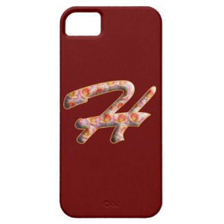 Monogram H in Roses Pattern Iphone 5 Case