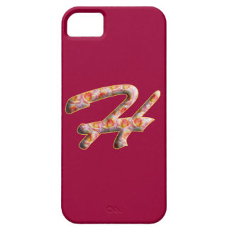 Monogram H in Roses Pattern Iphone 5 Cases