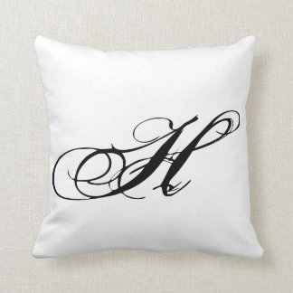 Monogram H Pillow