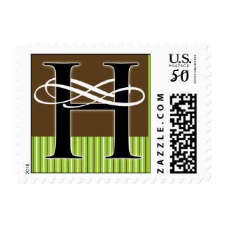Monogram H Postage -- Pick Your Own Color!