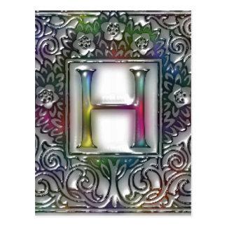 Monogram H Postcard