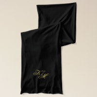 Monogram Happy New Year Fireworks Scarf