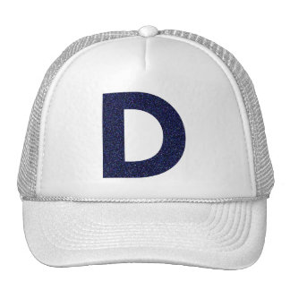 Monogram Hat, Capital D with Faux Glitter Trucker Hat