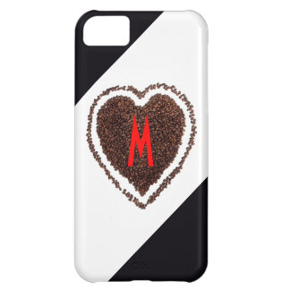 Monogram Heart Love Cool Funny Coffee Cute Humor Case For iPhone 5C
