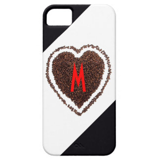 Monogram Heart Love Cool Funny Coffee Cute Humor iPhone SE/5/5s Case