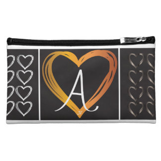 Monogram Hearts Sueded Medium Cosmetic Bag