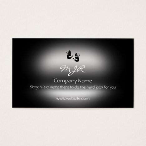 Monogram, Helping Hands, metallic-effect Business Card