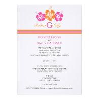 Monogram Hibiscus Flower Wedding Personalized Invite