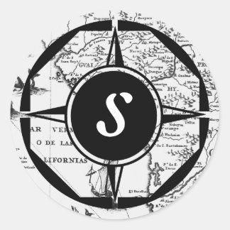 Monogram Historical Map stickers