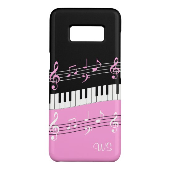 Monogram Hot pink Black White Piano Keys and Notes Case-Mate Samsung Galaxy S8 Case