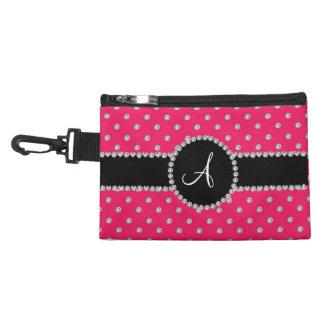 Monogram hot pink diamonds polka dots accessories bag