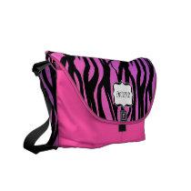 Monogram Hot Pink Purple Black Zebra Feminine Bag