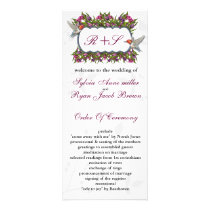 MONOGRAM humming birds Wedding program