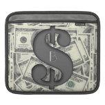 Monogram Hundred Dollar Bills Rickshaw Sleeve Sleeves For iPads