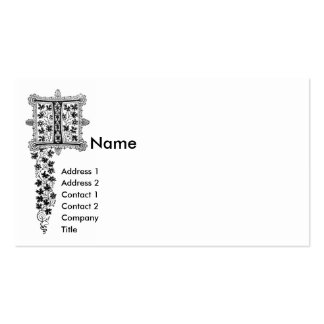 Monogram I Double-Sided Standard Business Cards (Pack Of 100)