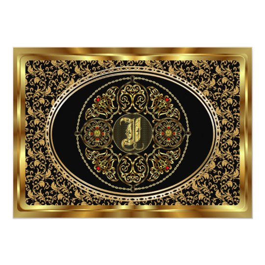 Monogram I One of a kind View notes please Card