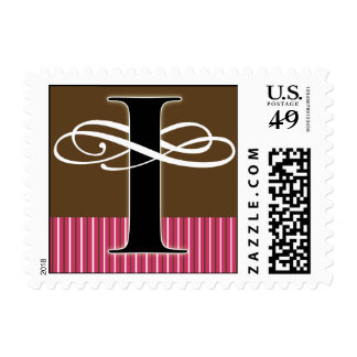 Monogram I Postage -- Pick Your Own Color!