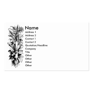 Monogram I with Flowers & Foliage Double-Sided Standard Business Cards (Pack Of 100)